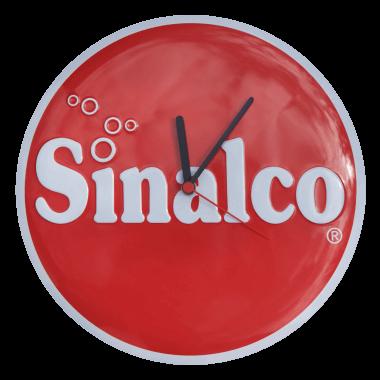 Geprägte Uhr aus Blech Sinalco