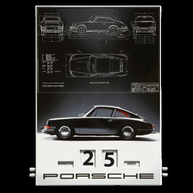 Drehkalender Porsche 2013, aus Emaille im Format 300 x 430, limitiert und nummeriert