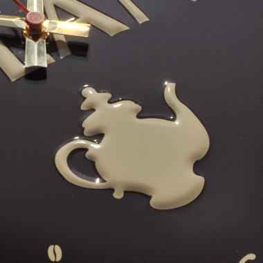 Uhr CafféMilani, Detail der Prägung