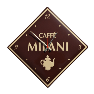 Geprägte Uhr Caffe Milani