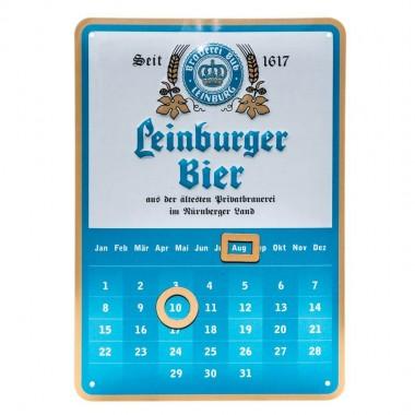 Kalender Leinburger Bier, im Postkartenformat A6, mit Aufsteller