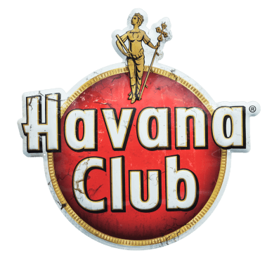 Extra starkes Aluminiumschild Havana Club aus 2 mm Aluminium,  für die Anwendung im Aussenbereich