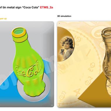 Coca-Cola Blechschilder Serie, Vorschau Schild 2