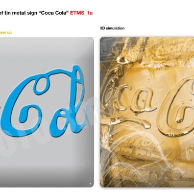 Blechschilder Coca-Cola Vorschau Schild 3