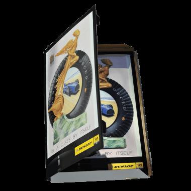 Dunlop Blechschild mit bedruckter Verpackung, klicken Sie die Pfeile für weitere Ansichten