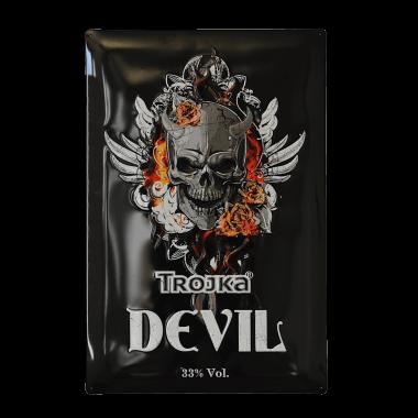 Blechschild Trojka Devil, 40 cm x 60 cm