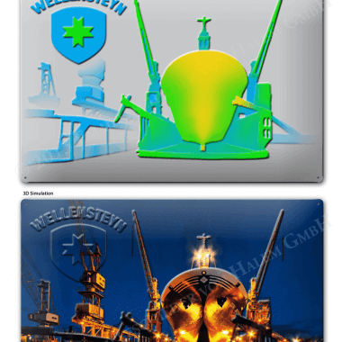 Vorschau Prägungen Blechschild Wellensteyn Schiff