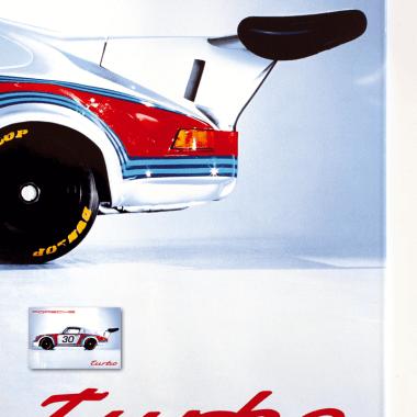 Emailschild Porsche Turbo, Detail