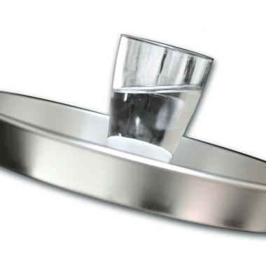 Anti-Rutsch Masse Serviertablett, verhindert, wie der Name sagt, daß Gläser herumrutschen.