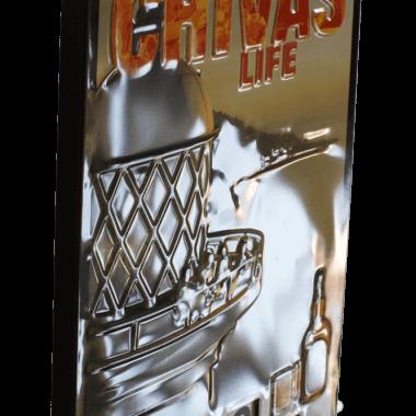 Drehkalender Chivas, Detail der Prägungen