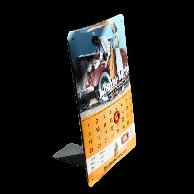 Nostalgischer Kalender 15 cm x 20 cm, geprägt, mit abnehmbarem Metallfuss
