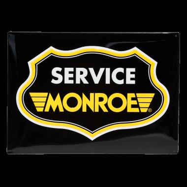 Wetterfestes Aluminiumschild Monroe zur Kennzeichnung der Serviceartner, Große 40 cm x 30 cm
