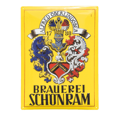 Schönram Aluschild, 4 Jahre Garantie für die Anwendung im Innen- und Aussenbereich