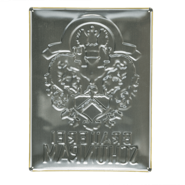 Schönram Aluminiumschild, Ruckseite
