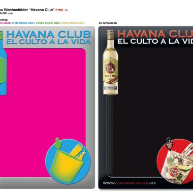 Anschreibtafel Havana Club