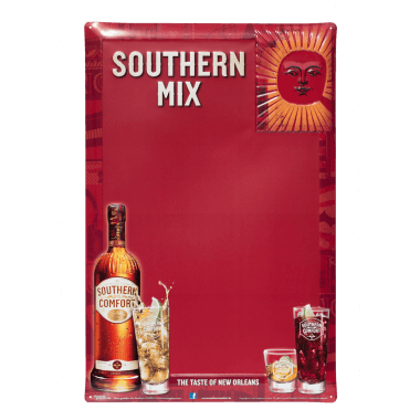 Anschreibetafel Southern Comfort mit rotem Tafellack, 40 cm x 60 cm