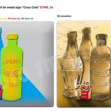 Coca-Cola Blechschilder Serie, Vorschau Schild 1