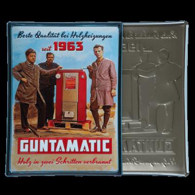 Nostalgisches Blechschild Guntamatic zum Firmenjubiläum