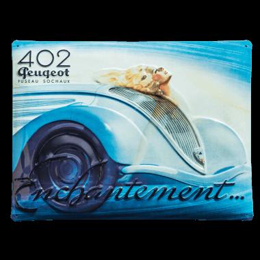Geprägtes Blechschild Peugeot, 40 cm x 30 cm