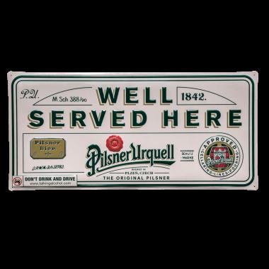 Blechschild Pilsner Urquell , 60 cm x 30 cm