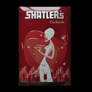 Shatlers Blechschild,mit metallischem Effekt, 40 cm x 60 cm