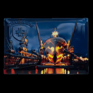 Blechschild Wellensteyn Schiff, 40 cm x 60 cm
