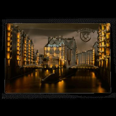 Blechschild Wellensteyn Speicherstadt, durch Klick auf die Pfeile geht es zu mehr Motiven
