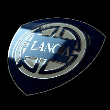 Aufwändiges Emailleschild Lancia, 50 cm Durchmesser, geprägt, mit Platin und verdeckten Aufhängungen