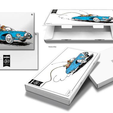 Emailleschild Pit und Pikkolo, 445 mm x 200 mm, limitierte und einzeln nummerierte Edition, mit Verpackung