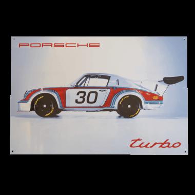 Emailleschild Porsche Turbo, 40 x 60 cm , 10 keramische Farben, limitiert und nummeriert