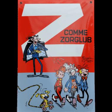Emailleschild Z wie Zyklotrop,  270 mm x 400 mm,limitierte und einzeln nummerierte Edition, mehr durch klicken auf den Pfeil