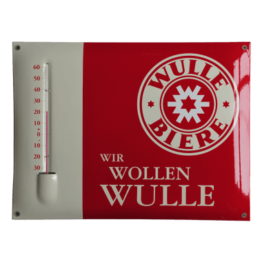 Werbethermometer Emaille  Wulle, Format 30 x 40 cm