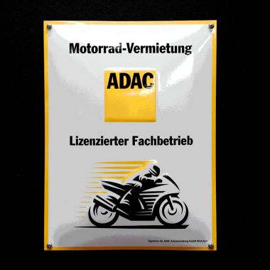 ADAC Emailleschild ADAC Emailleschild,  300 mm x 400 mm, geprägt