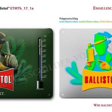 Ballistol-Thermometer Visualisierung Thermometer Ballistol