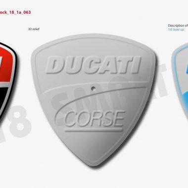 Visualisierung Logo Uhr Ducati