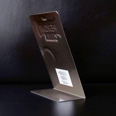 Tischaufsteller Gastro Rückseite Tischaufsteller Rückseite mit Metallfuss