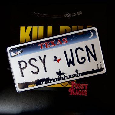 US-Kennzeichen-Pussy-Wagon US Kennzeichen im Originalformat. Zugabeartikel zu Kill Bill limitierte Black Mamba Edition
