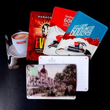 Blechpostkarten Blechschilder in Postkartenformat A6