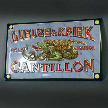 Blechschild geprägt in vier Ebenen. Format 480 mm x 292 mm